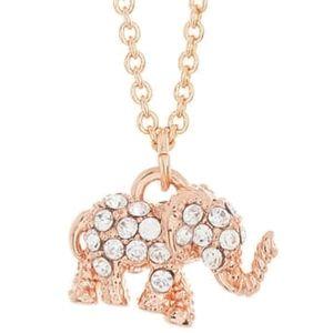 NEW Kate Spade Crystal Pave Elephant Necklace